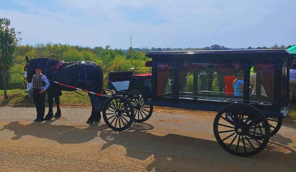 Chattanooga Horse Drawn Funeral Carriages Arrangements